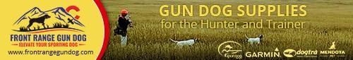 Front ange Gun Dog Banner Ad