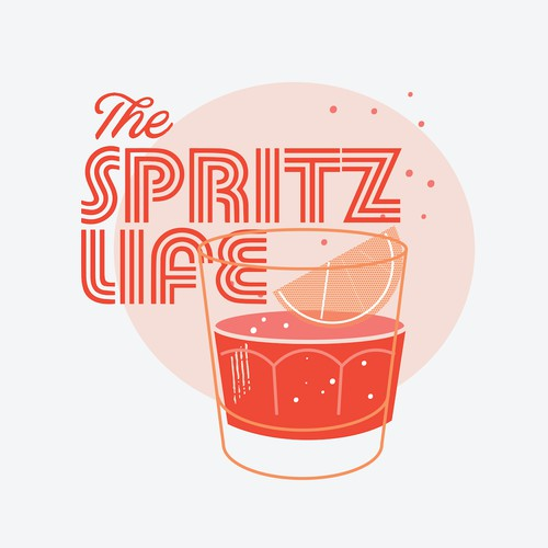 I'm a cocktail lover - especially Aperol Spritz! Design me a retro cool tshirt