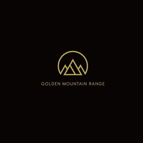 golden mountain range