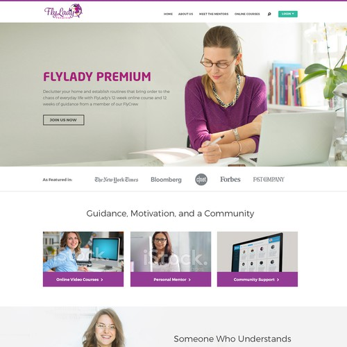 New Website for FlyLady Premium