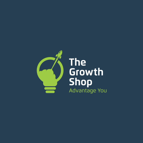 Modern logo for Growth Shop