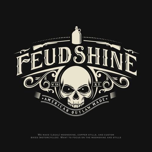 Feudshine moonshine logo