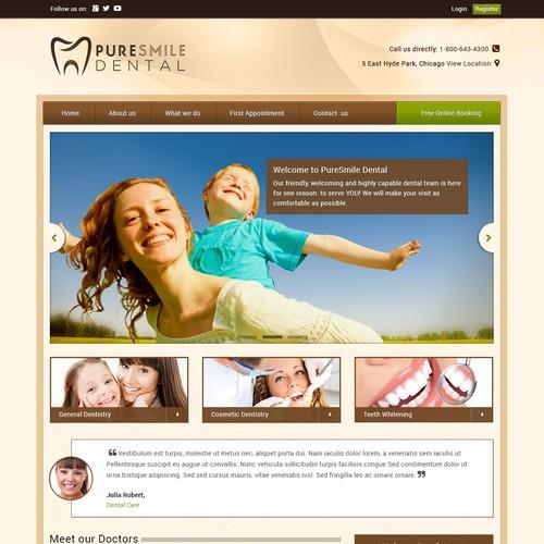 website design for dental clinic