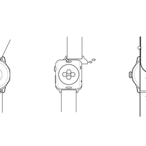Watch Band Installation Illustration