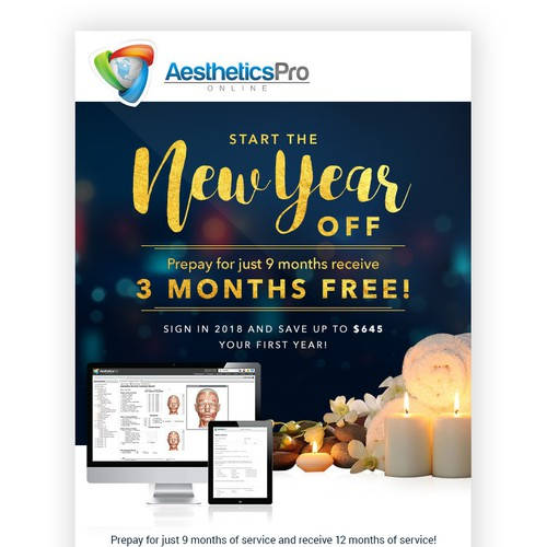 Email design for Aesthetics Pro