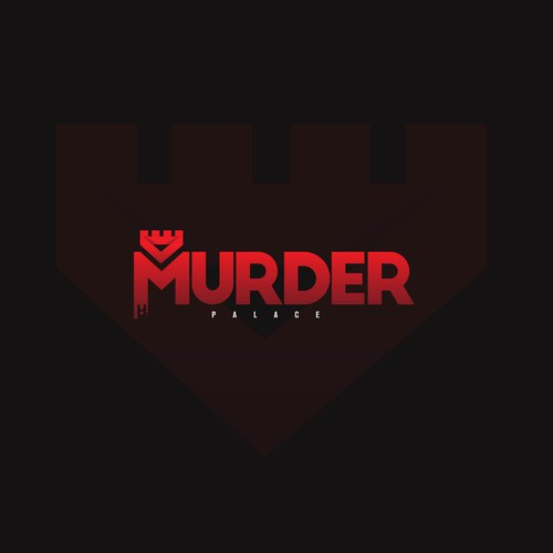 Murder palace logo design concept.
