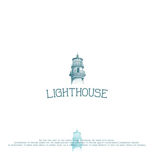 Vintage Hand-drawn Logo for Lighthouse