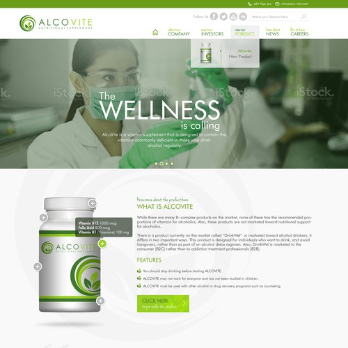 Create a Stunning Homepage for Vitamin Supplement - Guaranteed Award!