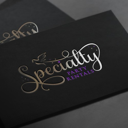 Logo for a party rental company