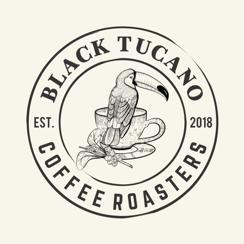 Hand drawing logo for  Black Tucano