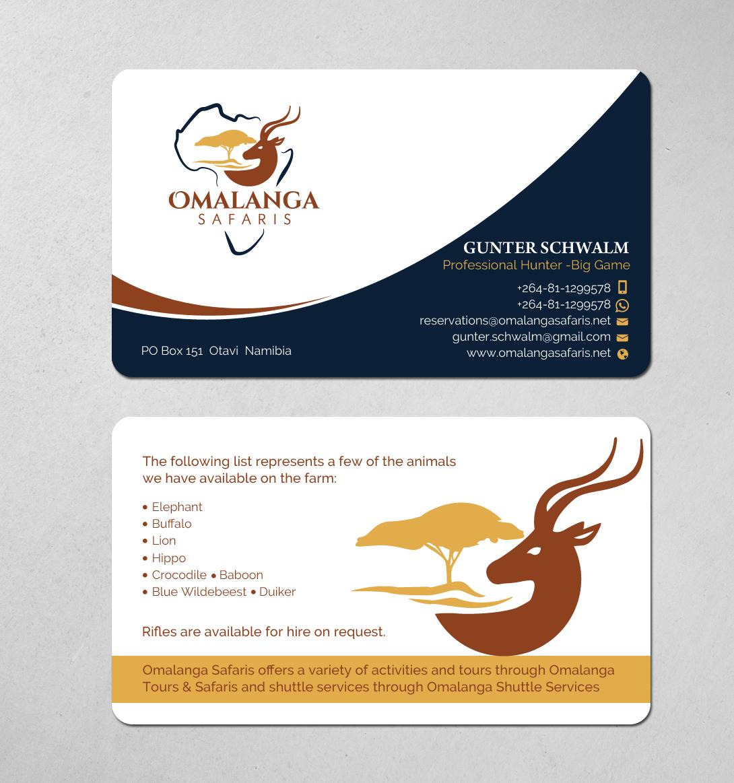 Omalanga Safaris | Etosha Mopane Safari Lodge - Business Cards