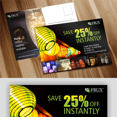 Postcard design for home decor lighting products