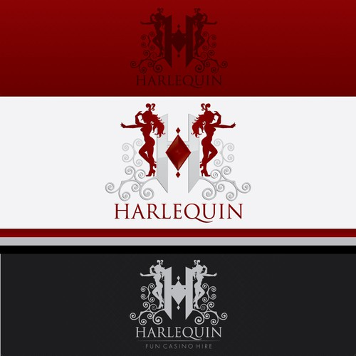 Harlequin is a brand new Casino in need of a stylish logo