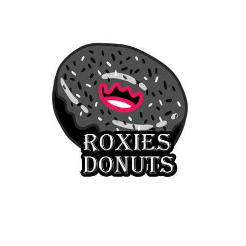 Logo concept for punk rock donut shop