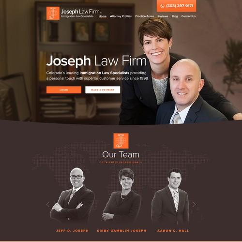 Web design for Joseph Law Firm