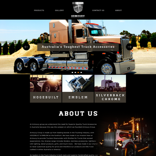 Dark Web design for an automotive company
