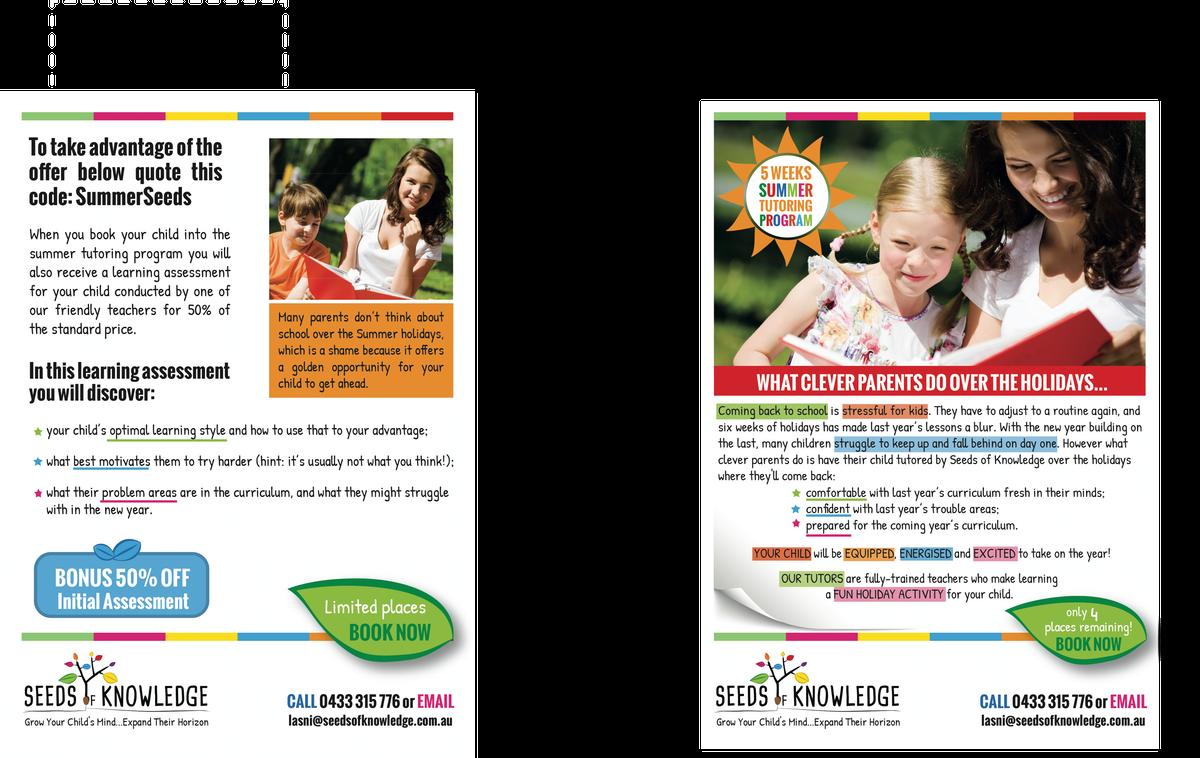 Summer tutoring Flyer/poster