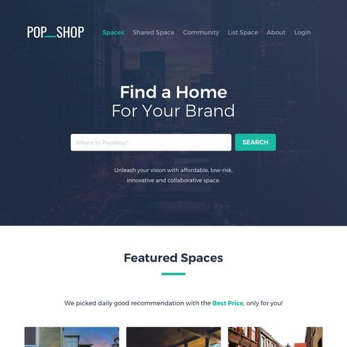 PopShop Landing Page