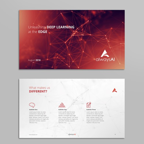 PowerPoint presentation for AI startup