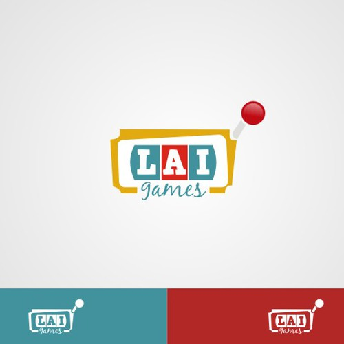 logo and business card for LAI Games