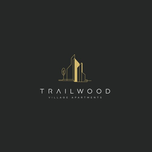 Modern Luxury Real Estate Logo for Trailwood Village Apartments