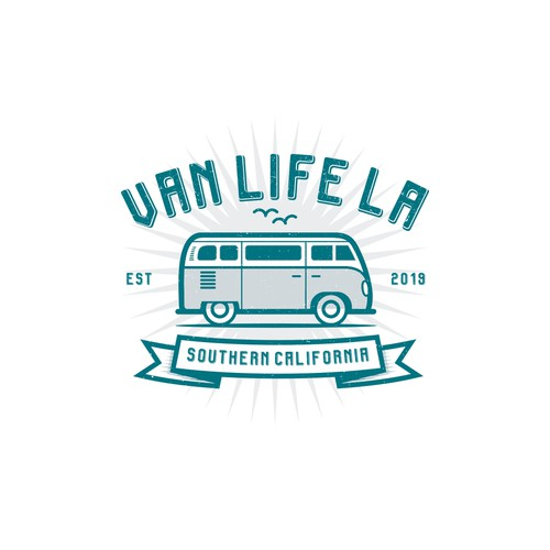 "Design a Vintage logo for ""VANLIFE LA"""