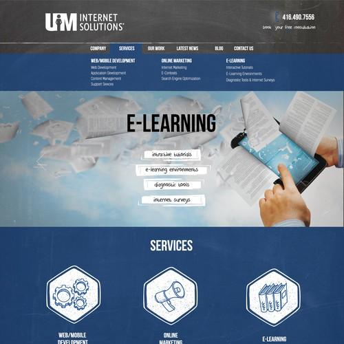 Website redesign but same basic layout
