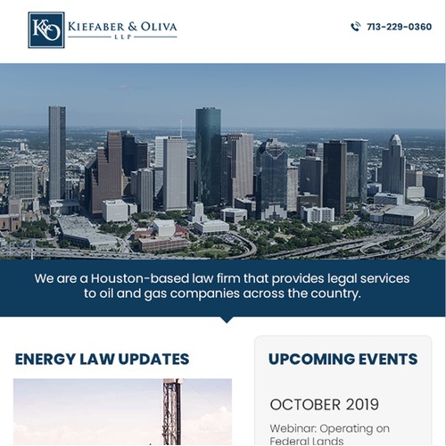 Kiefaber and Oliva LLP  Email Newsletter template