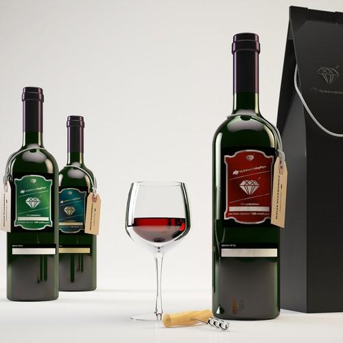 wine bottle visualisation