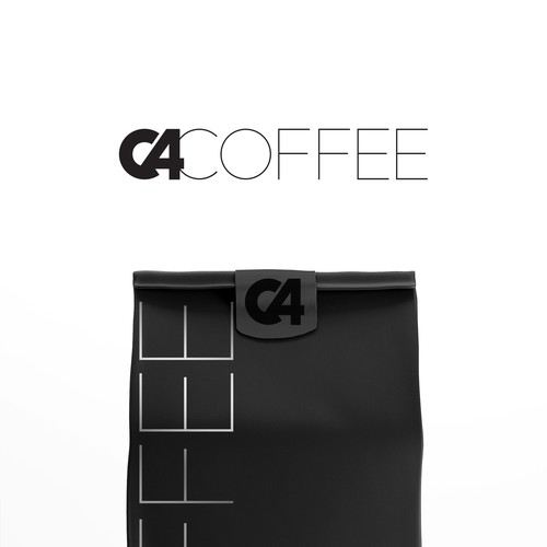 Bold logo for a high caffeine coffee pack