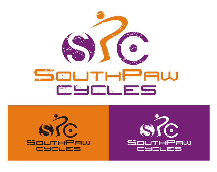Create a bold timeless logo for SouthPaw Cycles bicycle shop