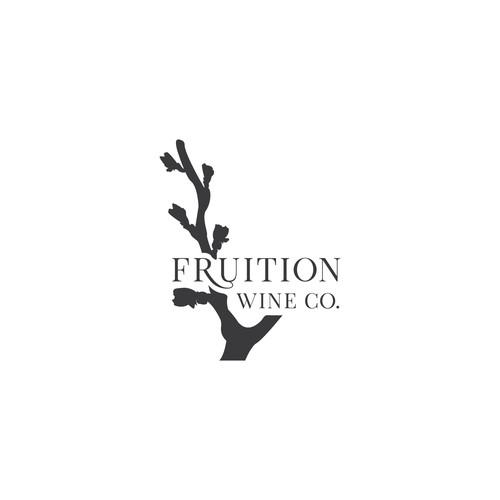 Fruition Wine Company bottle label design