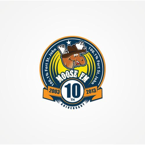 Radio station 10th anniversary logo
