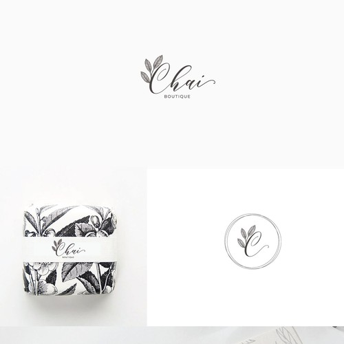 Logo concept for Chai Boutique - a tea store chain