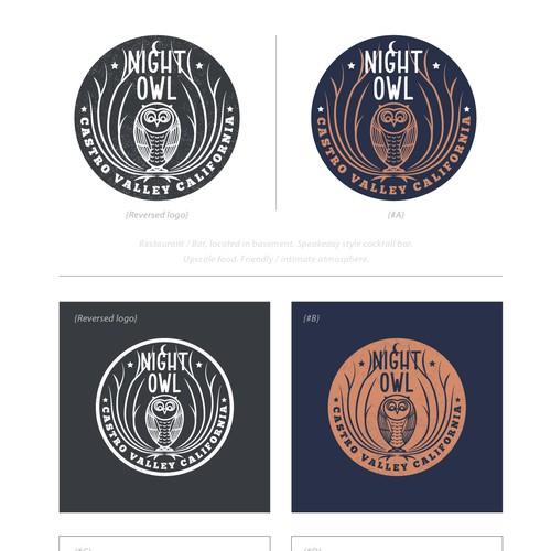 Logo badge design for a restaurant + bar