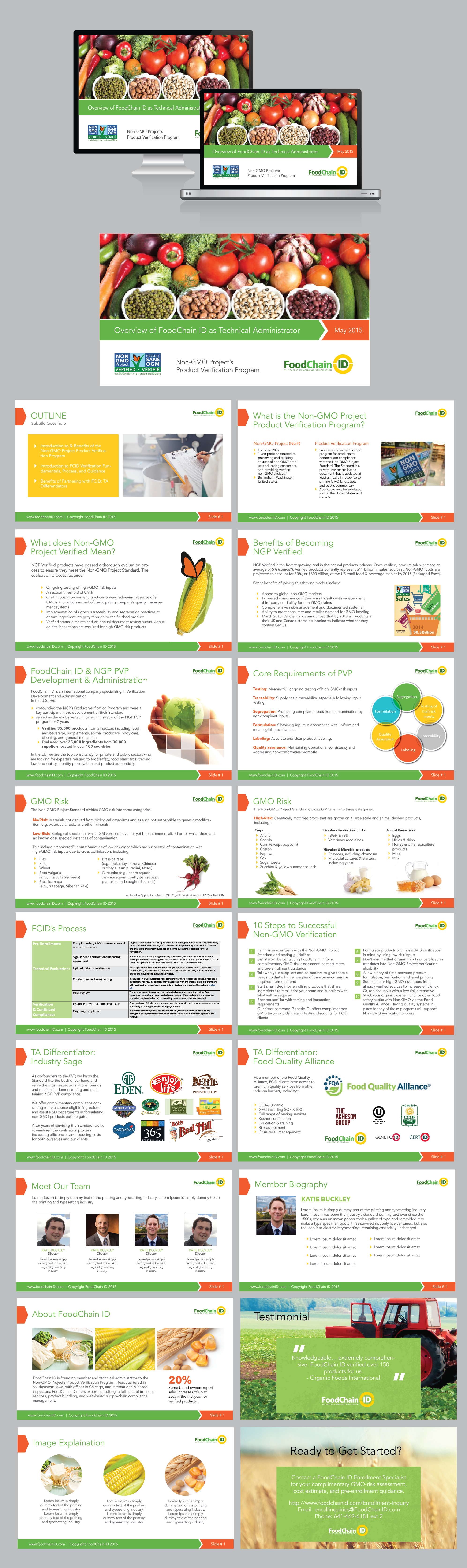 FoodChain ID PowerPoint Template