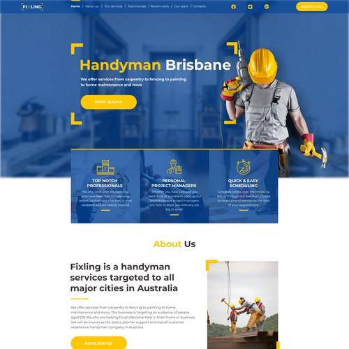 Web-page design for Handyman Company