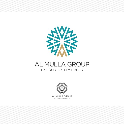 logo and business card for Al Mulla Group Establishments