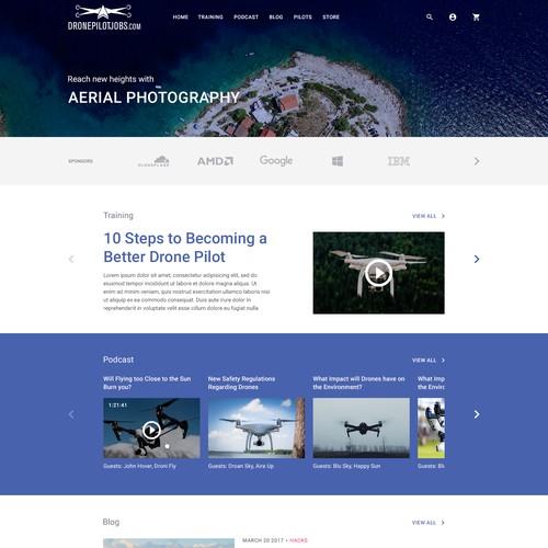 Video + Blog Homepage