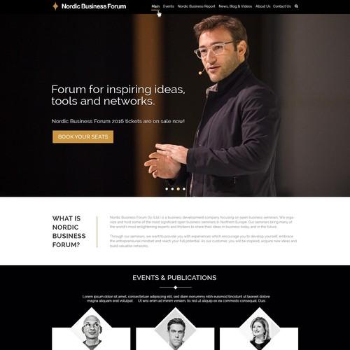 Nordic Business Forum Website