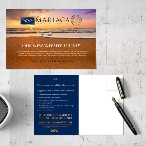 Post Card design for Financial services business