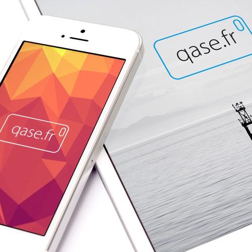 Qase.fr Logo Design
