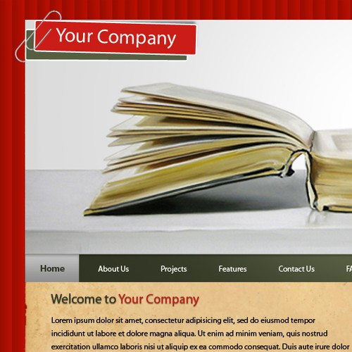 1-3 Page Website Template
