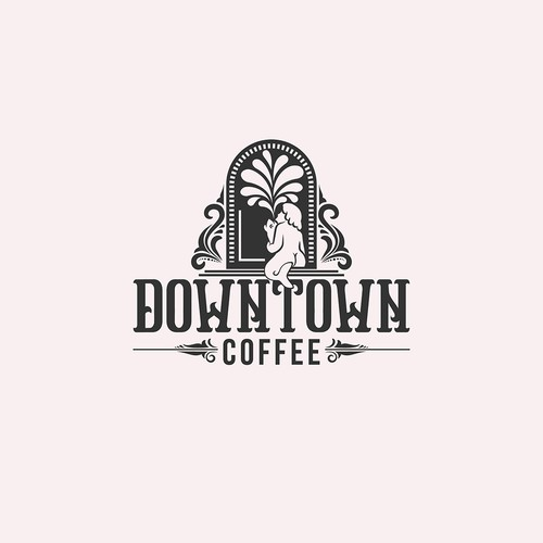 logo concept for vintage coffee company