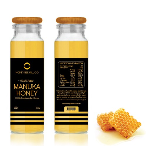Manuka Honey Label for Honey Bee Hill Co