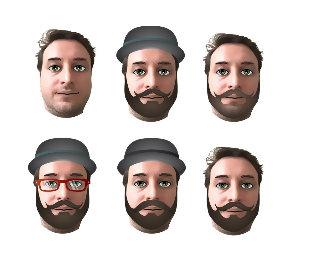 Emoji Face Hipster Collection