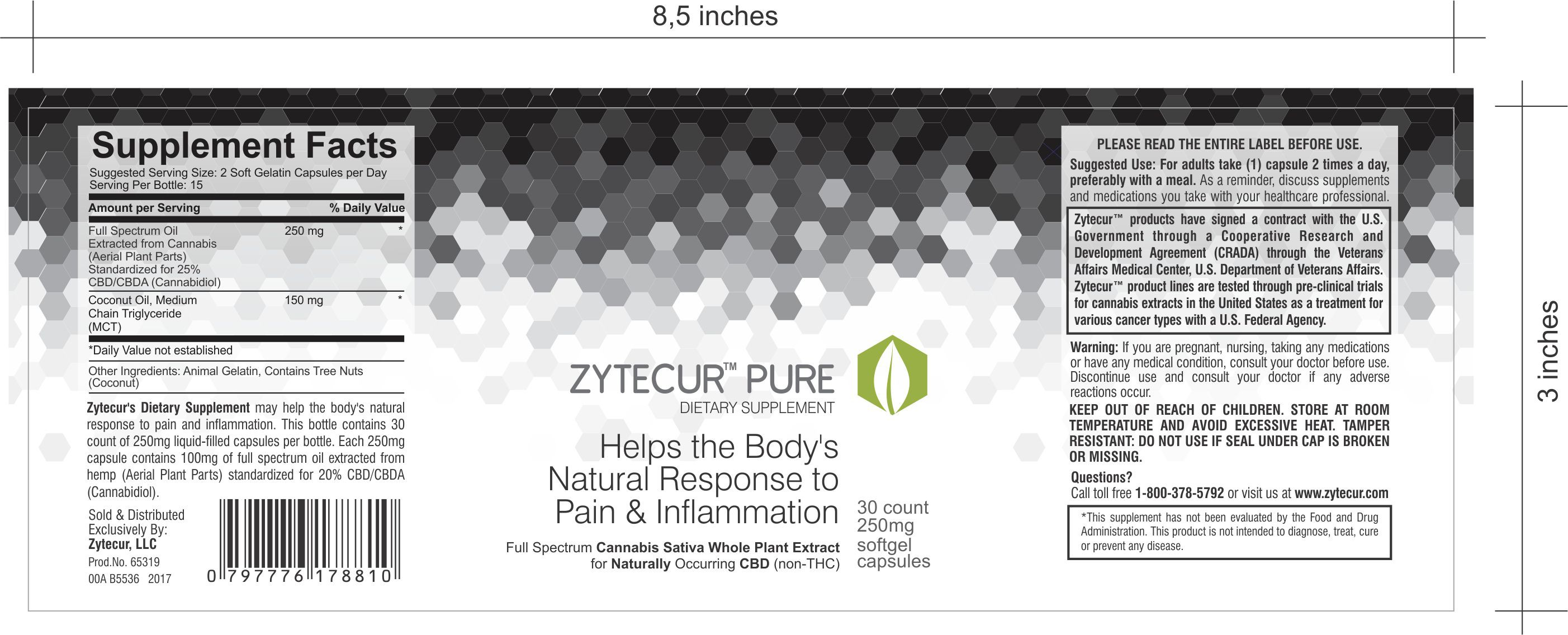 Create a design for a nutraceutical CBD oil bottle label for chronic pain and inflammation!