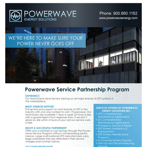 Service Partnership Brochure