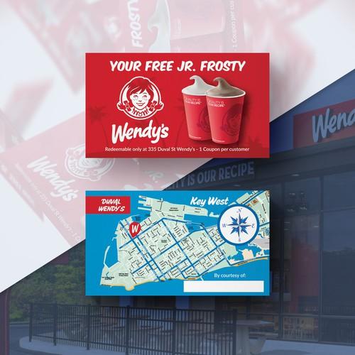 Wendy's Free Jr. Frosty card