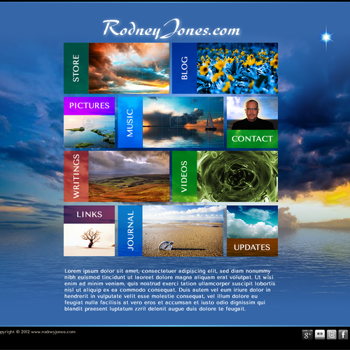 New website design wanted for www.rodneyjones.com